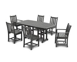 polywood traditional garden 7 piece dining set u0026 reviews wayfair