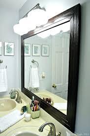 Bathroom Mirrors At Home Depot Home Depot Bathroom Mirror Frames Framed Bathroom Mirrors Steps To