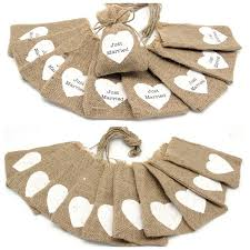 small burlap bags aliexpress buy just married small jute bag cheap wedding