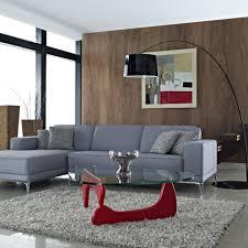 Arc Floor L Glamorous L Shaped Grey Linen Modern Sleeper Sofa Sweet Pattern