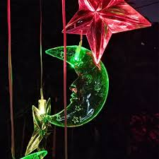 moon led solar wind chime nigh light colors
