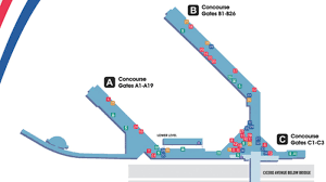 Seattle Map Airport by Mdw Airport Map Mdw Terminal Map