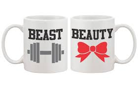 cute gifts for couples beauty and beast coffee mugs