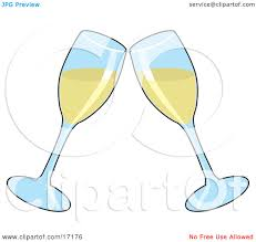 wine clipart two wine glasses toasting with white wine at a wedding