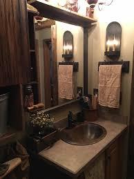 primitive bathroom ideas remarkable primitive bathroom lighting barrel bath vanity pendant