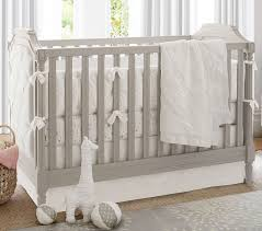 Grey Convertible Cribs Blythe Convertible Crib Pottery Barn