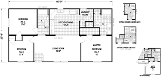 Double Wide Homes Floor Plans Plumsted 24 X 46 1088 Sqft Mobile Home Factory Expo Home Centers