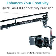 buy flyfilms professional 18ft film jib crane with stand boom for