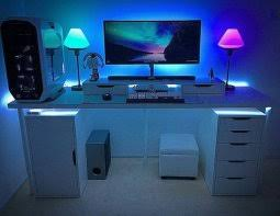 ultimate gaming desk setup my ultimate gaming desk setup tour youtube superb gaming desk