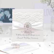 60th wedding anniversary greetings handmade pearl wedding anniversary cards with the luxury touch