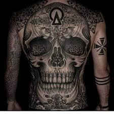 skull back tattooed tattoos tattoos