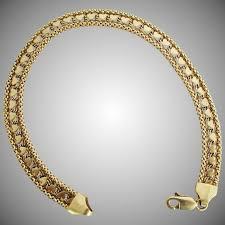 gold bracelet chain design images 6 8 grams 14k yellow gold bracelet with heart design 7 3 8 jpg