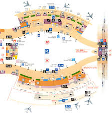 Atlanta International Airport Map by Paris Airports Charles De Gaulle Terminal 2c 2d Maps