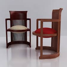 furniture awesome frank lloyd wright barrel chair for interior