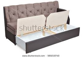 folding sofa bed couch storage space stock photo 569219740