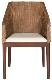Safavieh Furniture Outlet Store Furniture Awesome Dining Chair With Rattan Back Arm And White