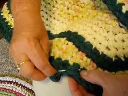 Crochet Oval Rag Rug Pattern How To Finish A Crochet Rag Rug Youtube