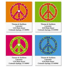 peace sign address labels current catalog