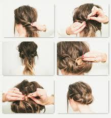 Einfache Hochsteckfrisurenen Selber Machen Kurze Haare by Einfache Anleitungen Für Schicke Frisuren Für Den Alltag
