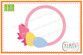 bow monogram applique corner egg bow monogram frame svg clipart design