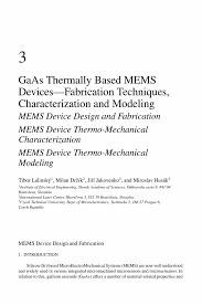 gaas thermally based mems devices u2014fabrication techniques