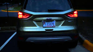 nissan qashqai rear light ford kuga led running and brake lights on 2013 escape youtube