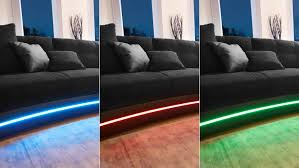 und sofa laredo sofa schwarz mit led und soundsystem