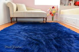 Area Rugs For Boys Room Navy Blue Rich Luxurious Shaggy Rectangle Area Rug Nonslip