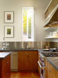 Easy To Clean Kitchen Backsplash Kitchen Design Idea Install A Stainless Steel Backsplash For A