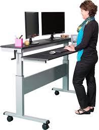 desk crank standing desk for inspiring the best standing desks