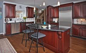 Magic Kitchen Cabinets Dark Cherry With Gray Accents Traditional Kitchen New York