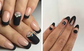Black Manicure Designs 25 Edgy Black Nail Designs Stayglam