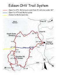 Oregon Trail Maps by Deschutes National Forest Edison Butte Ohv Trail System