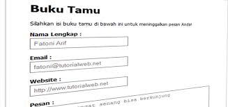 membuat web sederhana dengan javascript membuat buku tamu guestbook dengan php dan mysql tutorial web