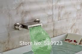 monora brushed nickel waterfall tub faucet three handles waterfall shower tub faucet best waterfall 2018