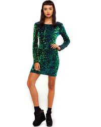 motel dresses motel gabby sequin dress in green iridescent at motel rocks
