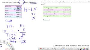 ixl grade 6 g 3 unit prices with fractions and decimals youtube