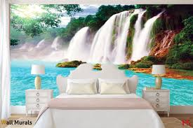 murals big waterfall in azure photo murals big waterfall in azure