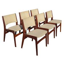 Mcm Dining Chairs by Six Mid Century Erik Buch Dining Chairs At 1stdibs