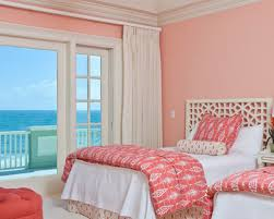 Beach Bedroom Ideas by Light Salmon Pink Paint Color For Feminine Beach Bedroom Ideas