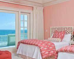 light salmon pink paint color for feminine beach bedroom ideas