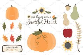 thanksgiving grateful graphics illustrations creative market