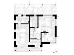 simple two storey house project that stands out in the environment first floor plan