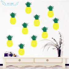 two color combinations twelve pineapple wall stickers two color combinations pineapple