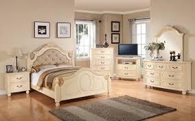Bedroom Beige Furniture Sets Gloss With Black Blue Walls - Full set of bedroom furniture