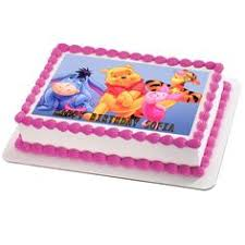 winnie pooh 2 edible birthday cake topper or cupcake topper decor