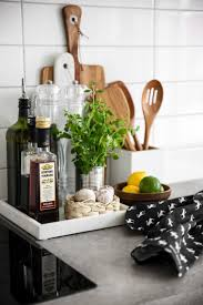 trays are a great way to contain clutter on counters and keep
