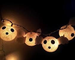 halloween set cotton ball string lights cotton ball fairy