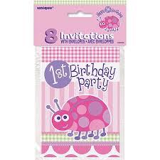 first birthday ladybug invitations 8pk walmart com
