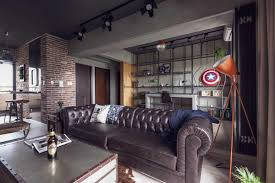 Industrial Theme by Fabulous Apartment Design Decorated By Industrial Feel And Modern